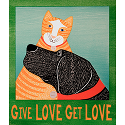Give Love, Get Love - Giclee Print