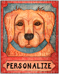 Golden Retriever - Customizable Crayon Giclee