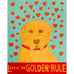 Golden's Rule - Original Woodcut