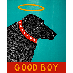 Good Boy - Original Woodcut