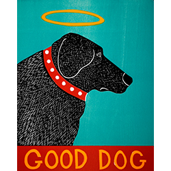 Good Dog - Original Woodcut