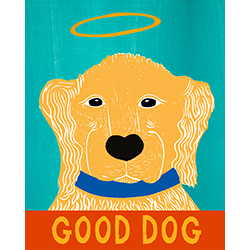 Good Dog-Golden II - Giclee Print