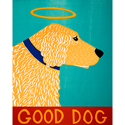 Good Dog-Golden - Giclee Print