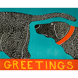 Greetings - Original Woodcut