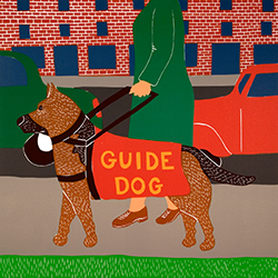 Guide Dog - Original Woodcut