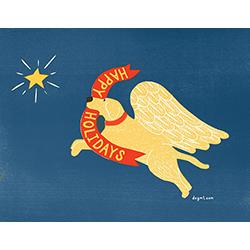 Happy Holidays Angel Dog - Card Set