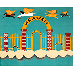 Heaven - Original Woodcut