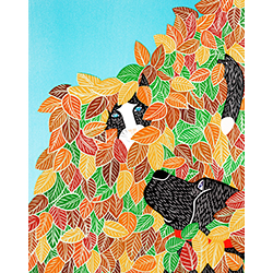 Hide and Seek-Autumn - Giclee Print