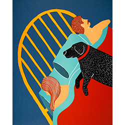 Hogging the Bed - Giclee Print