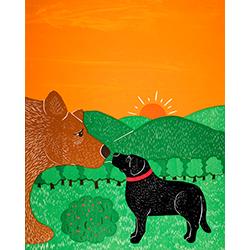 I Meet a Bear - Giclee Print