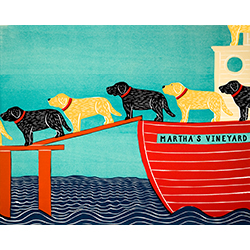 Island Ferry-Martha's Vineyard - Giclee Print