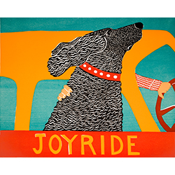 Joyride - Original Woodcut