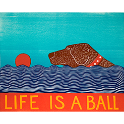 Life is a Ball - Medium Woodcut
