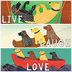 Live, Laugh, Love - Sticker Decal