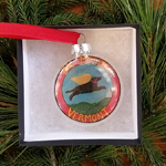 Dog Mountain VT Logo - Glass Ornament