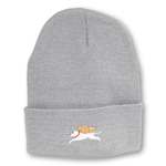 Light Gray - Angel Dog Knit Hat