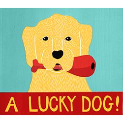 A Lucky Dog - Giclee Print
