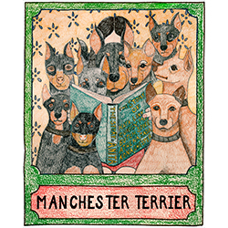 Manchester Terrier - Crayon Giclee Print