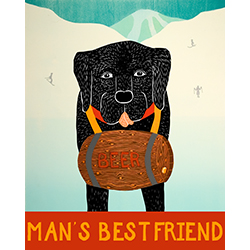 Man's Best Friend - Original Woodcut