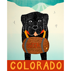 Man's Best Friend-Colorado - Original Woodcut