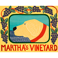 Martha's Vineyard Grapes - Original Woodcut