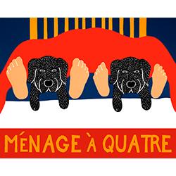 Menage a Quatre - Giclee Print