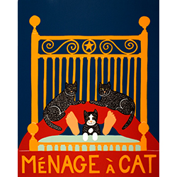 Menage a Cat - Giclee Print