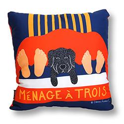 Menage a Trois - Decorative Pillow