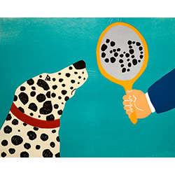 Mirror Image of Dog - Giclee Print