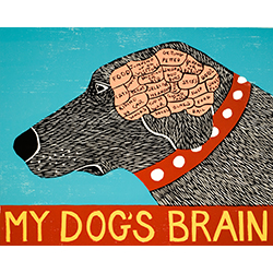 My Dog's Brain - Giclee Print