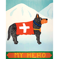 My Hero-Shepherd - Giclee Print