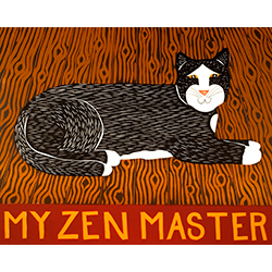 My Zen Master - Original Woodcut