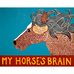 My Horse's Brain - Original Woodcut