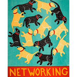 Networking - Original Woodcut