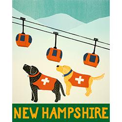 Ski Patrol-New Hampshire - Giclee Print