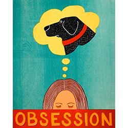 Obsession - Original Woodcut