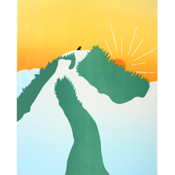 On the Mountain - Giclee Print