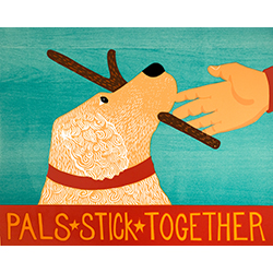 Pals Stick Together - Giclee Print