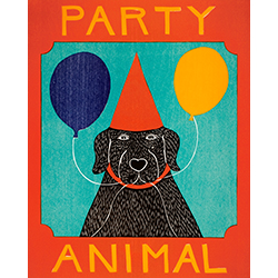 Party Animal - Original Woodcut