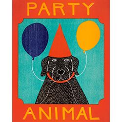 Party Animal - Original Woodcut