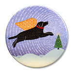 Winter Peace Tree - Holiday Ornament Round