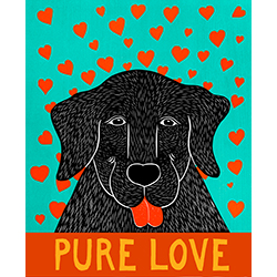 Pure Love-Happy Lab - Giclee Print