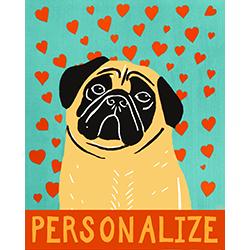 Pure Love-Fawn Pug - Customizable Print
