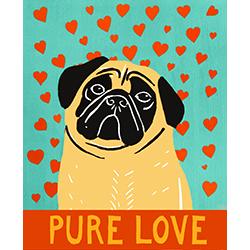 Pure Love-Fawn Pug - Giclee Print