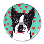 "Pure Love-Boston Terrier - 2.25"" Round"