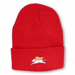 Red - Angel Dog Knit Hat