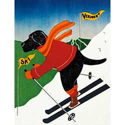 Ski Vermont - Giclee Print