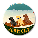 Vermont Sled Dogs - Holiday Ornament Round