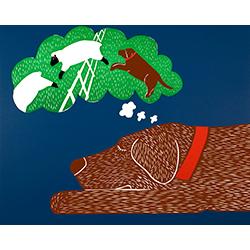 Sleep - Original Woodcut