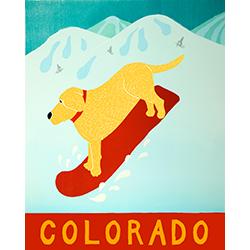 Snowboard-Colorado - Original Woodcut